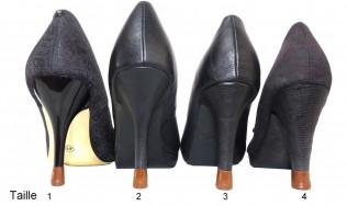4 PAIRES-4 tailles-Marron