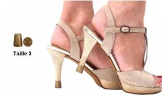 protèges talons - talon abime - talon cassé - embout talon couleur - protection des talons de chaussures