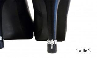 talon chic - talon haut - protège talon décoré - personnalisation talons aiguilles - réparation talon