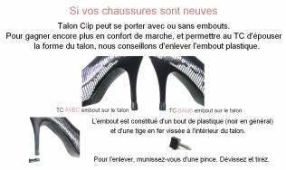 protection talons chaussures - escarpins - changer talon - remplacer embout talon