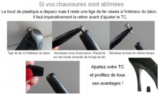 embouts talon - protection talons - protege talon - protection escarpins - bonbout talon - reparation talon