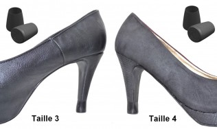 protection talon - embout de talon - escarpins - stilettos - protection chaussure