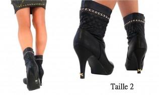 talon aiguille bijoux - talons fins mode - noeud chaussure - protection escarpins bijoux