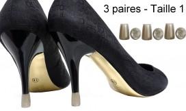 3 paires - 1 taille - Nacré