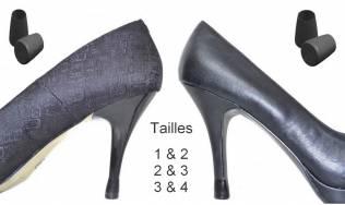 2 paires - 2 tailles- NOIR - embouts talons